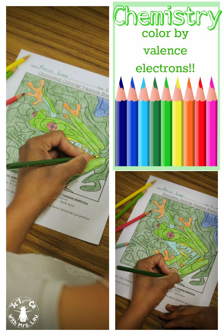 The coloring book of physics - Chemistry Puzzle Color By Valence Electron Number