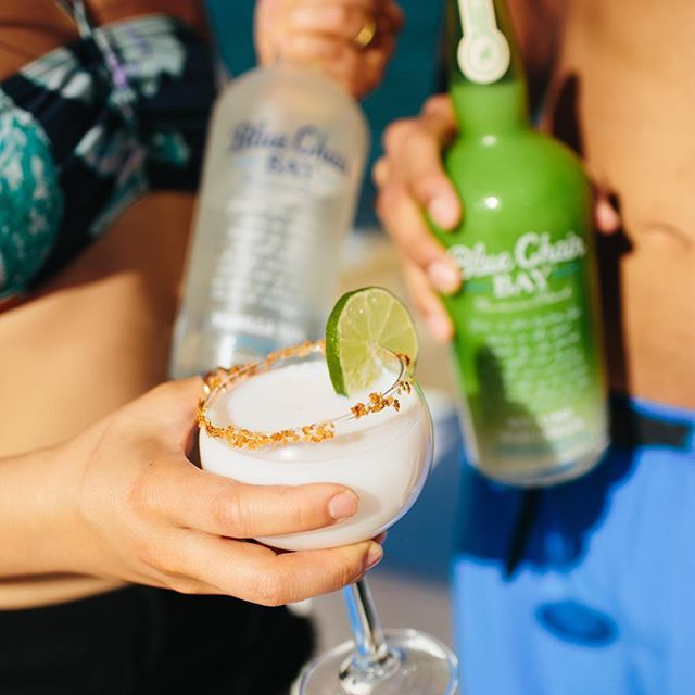 Key Lime Rum Cream, Vanilla Rum, And Coconut Water Make For A Tasty Cocktail