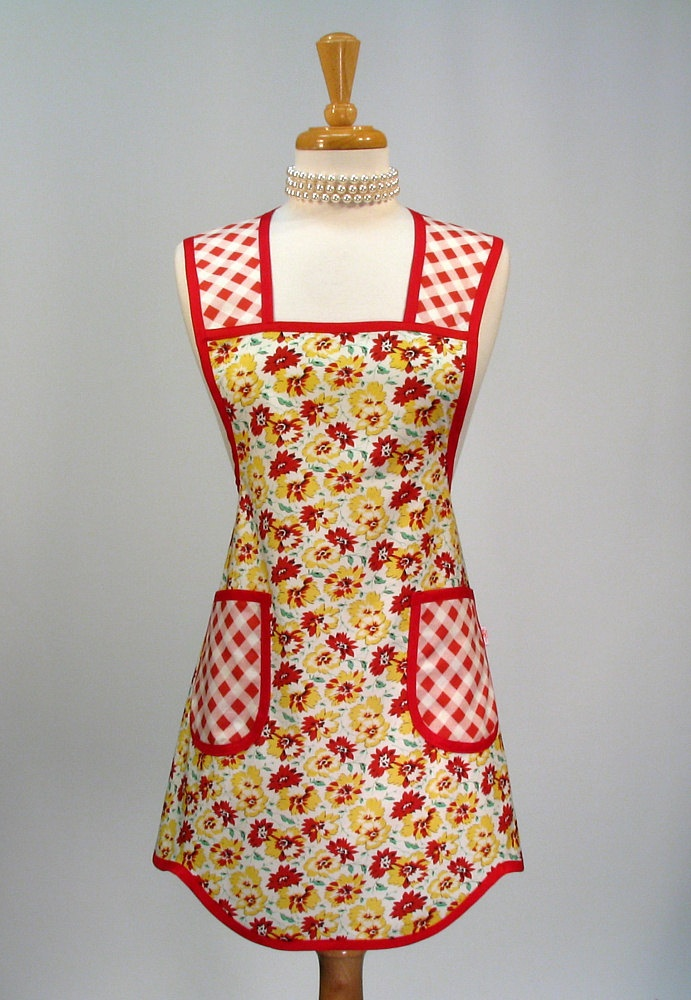 Vintage Aprons For Women | Womens Full Apron Retro Vintage Inspired by SwankyPlaceAprons