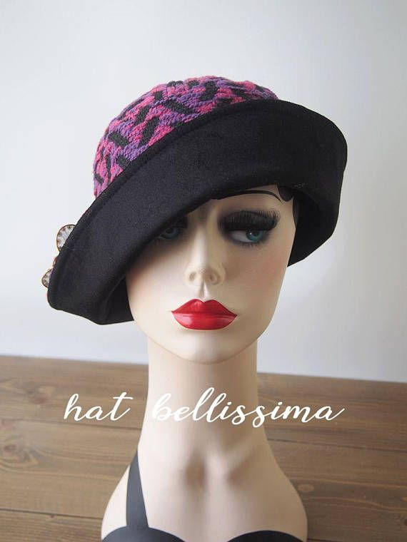 2bb8c59fae3 SALE purple 1920 s Hat Vintage Style hat winter Hats hatbellissima ladies  hats millinery hats cloch