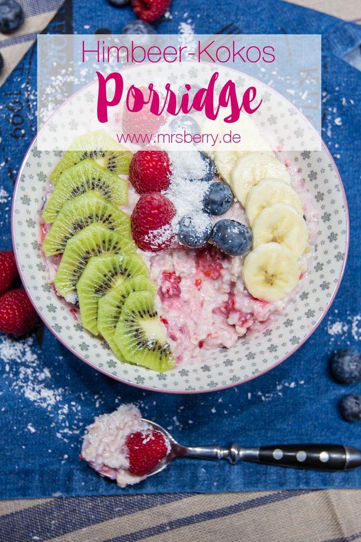 MrsBerry Meal Planning | Rezept für weltbestes und fruchtigstes Himbeer-Kokos-Porridge |Ich liebe Porridge und gerade im Winter wenn es kalt ist, habe ich gerne schon zum Frühstück etwas warmes im Magen. Schmeckt saulecker, macht lange satt und wärmt von innen.