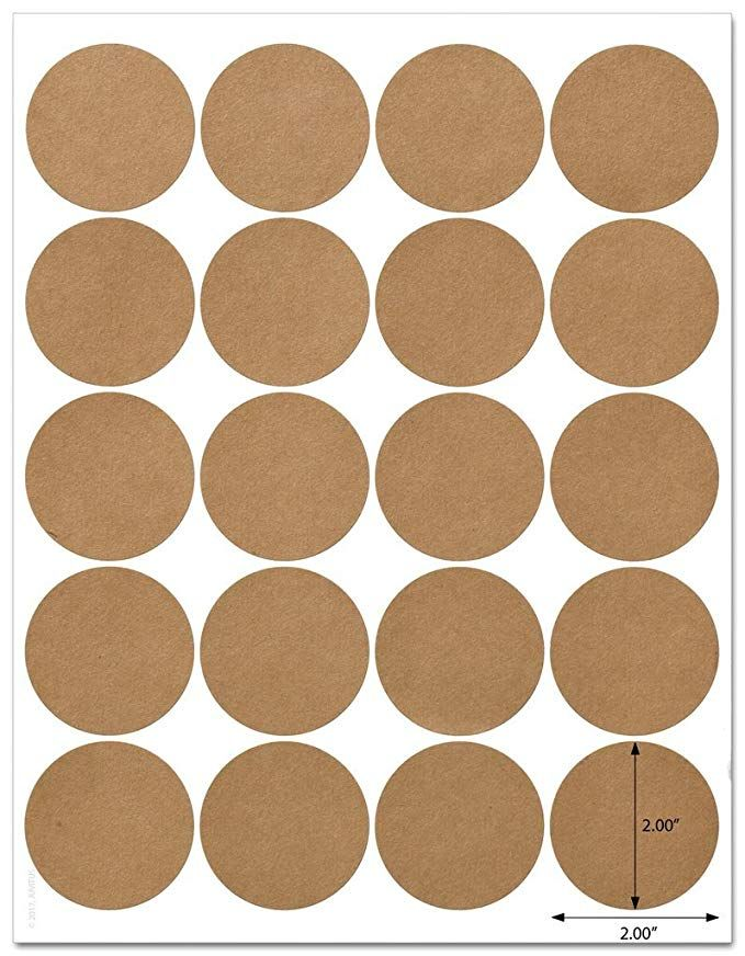 Textured Brown Kraft 2 Inch Diameter Circle Labels With Template And Printi Circle Labels Aesthetic Stickers Printable Vintage Brown Stickers Printable Vintage