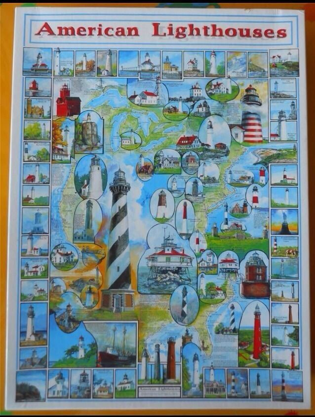 American Lighthouses Jigsaw Puzzle 1000 Pieces White