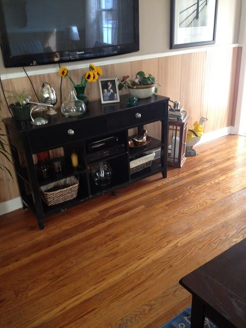 Making Old Floors Look Good Until You Can Afford New Ones! :: Hometalk      Wash with bleach, then two coats of mop n glo
