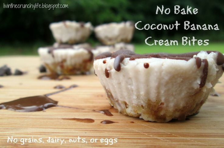 No Bake Coconut Banana Cream Bites (dairy/grain/egg/nut-free, AIP)