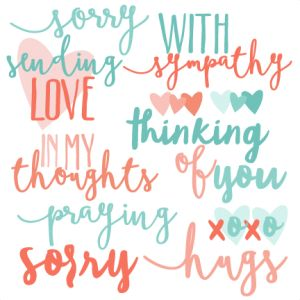 With Sympathy Words Set SVG scrapbook cut file cute clipart files for silhouette cricut pazzles free svgs free svg cuts cute cut files