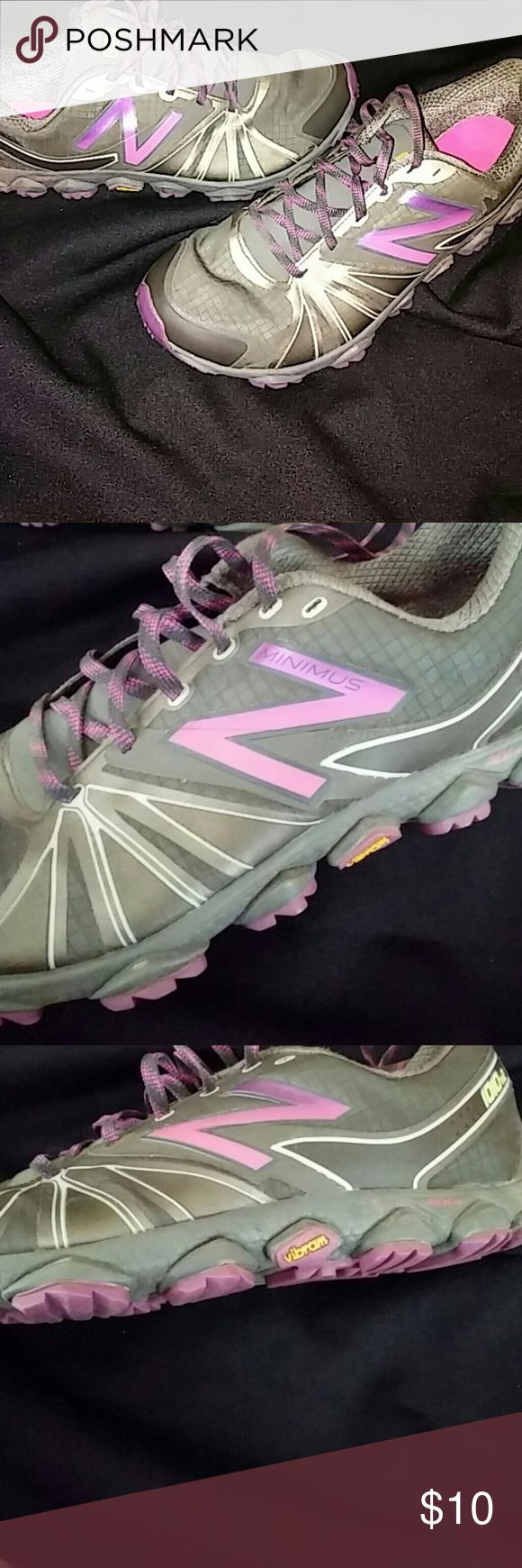 New balance minimus size 11 Size 11 great condition with minimal wear. Still looks very new. Pink that fades to purple with charcoal gray. New Balance Shoes Athletic Shoes