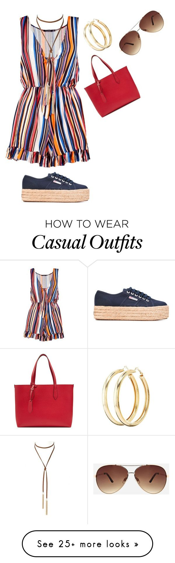 """Plus Romper Style 3/Casual"" by xtrak on Polyvore featuring Boohoo, Superga, Burberry, Charlotte Russe and Ashley Stewart"