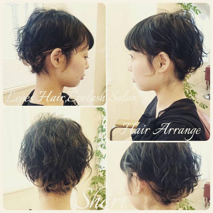 いいね!22件、コメント1件 ― Yamaguchi Hanaeさん(@tamago.lepes)のInstagramアカウント: 「本日のお客様💇✨結婚式のヘアセットをしました🌼レングスはショートですが、襟足を留めて髪が長い風に見せました💡…」