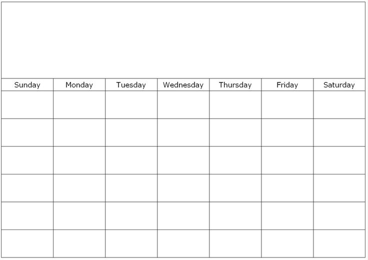 free printable 1 month calendar | You can find this calendar in: Blank calendar pages , Blank calendar ...