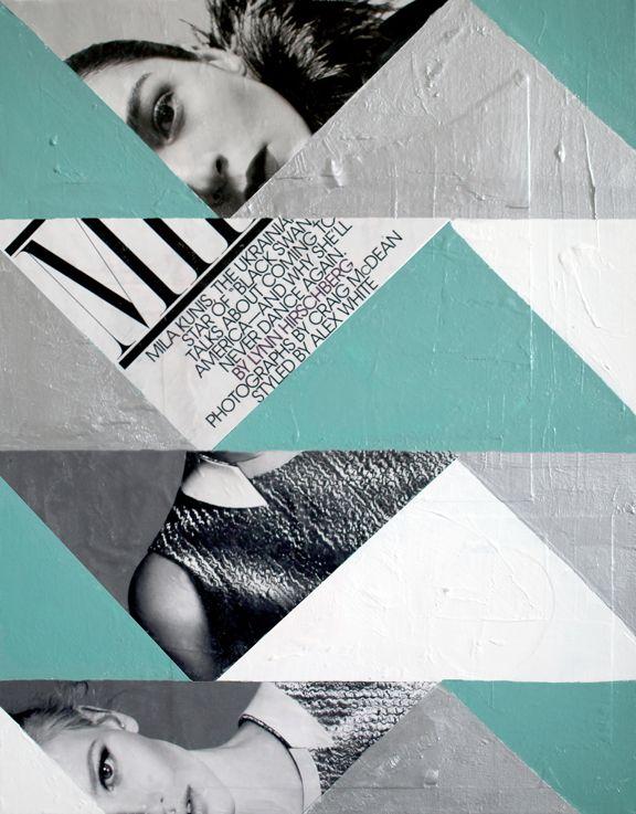 diy abstract art with photos: Diy Ideas, Diy'S, Diy Art, Abstract Art, Art Ideas, Diy Abstract, Collage, Photo