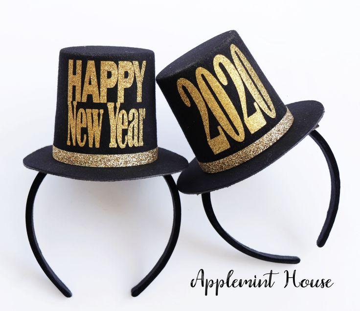 New Years Eve Hat top hat Headband, 2020 Happy New year