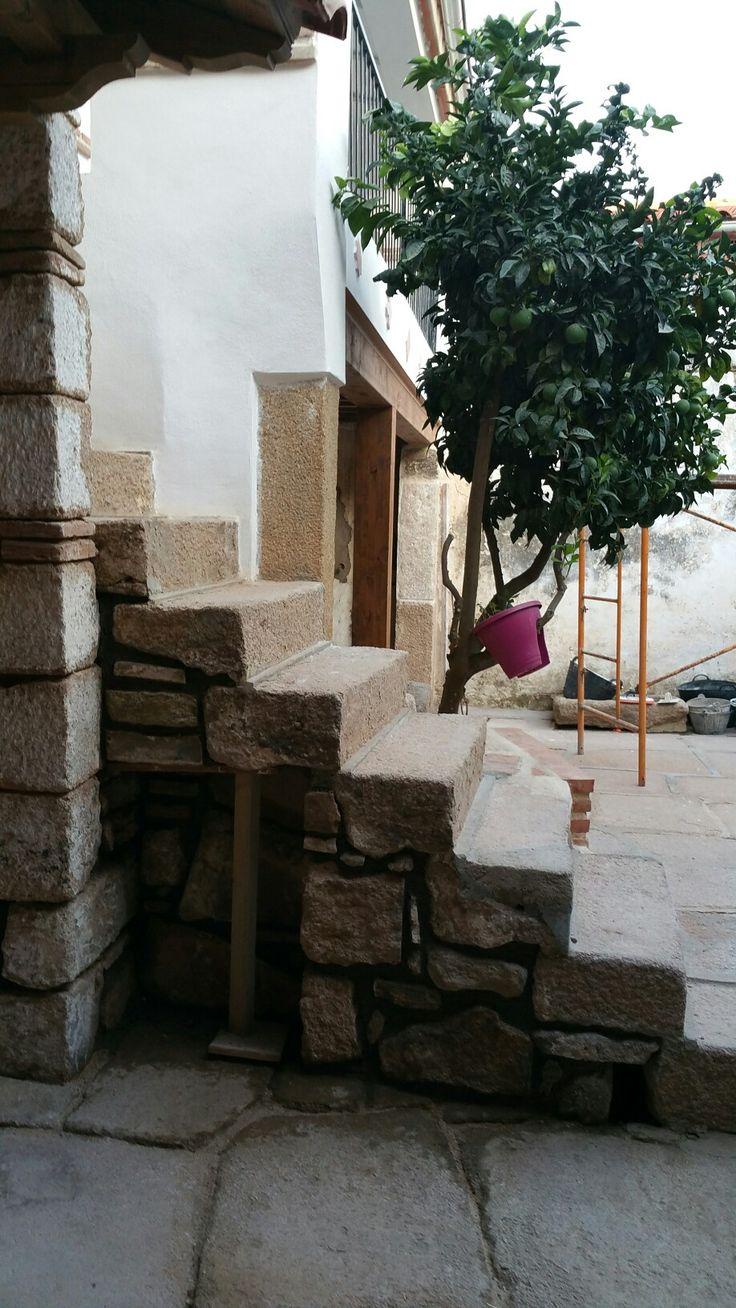 Escalier sur patio