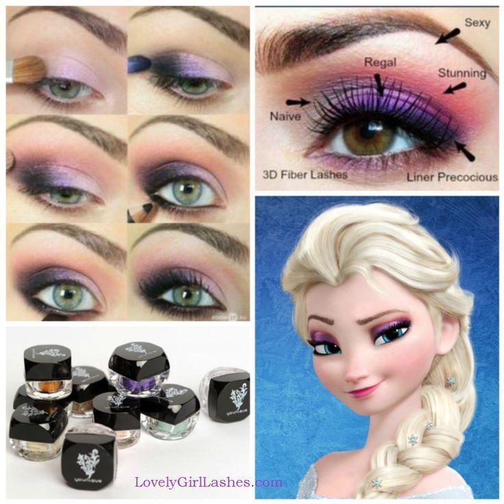 DIY Frozen Eye Makeup diy frozen eye shadow how to diy makeup eye makeup eye liner makeup tutorials elsa eye makeup tutorials