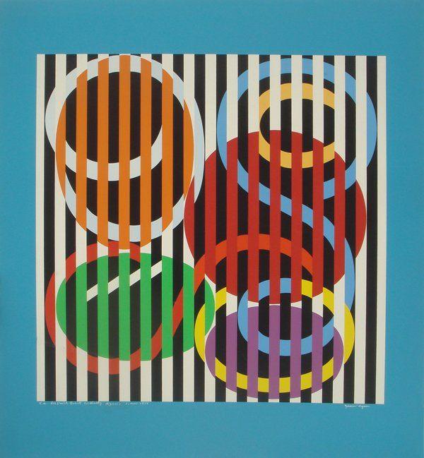 Yaacov Agam 1960s Original S Silkscreen http://decdesignecasa.blogspot.it