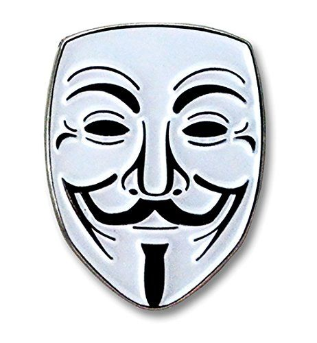 "Guy Fawkes ""Anonymous"" Lapel Pin"
