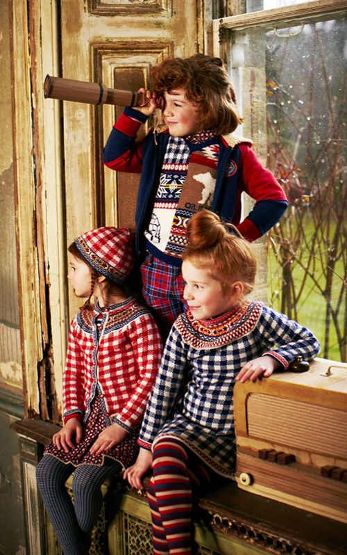 The designers at Oilily took a traditional Fair Isle sweater, used primary tones instead of the usual pastels, mixed it with bold checks, and created a big time fall 2013 best seller. - jamesgirone.com