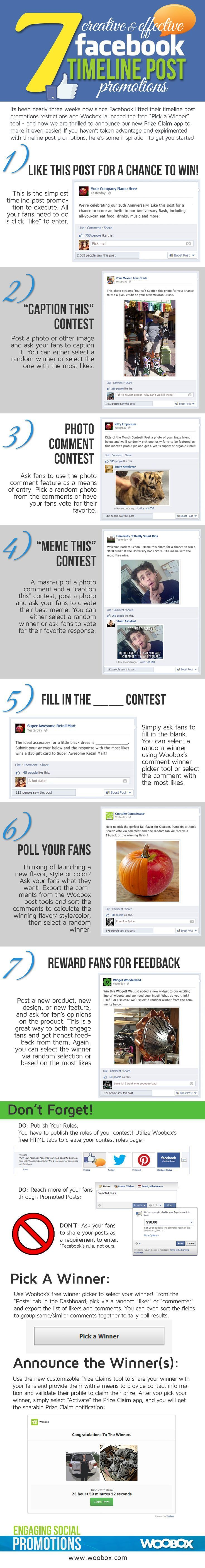 Social Media (http://www.riddsnetwork.in) -- 7 Creative & Effective #Facebook Timeline Post Promotions [INFOGRAPHIC] By www.riddsnetwork.in/contact (Indian SEO)