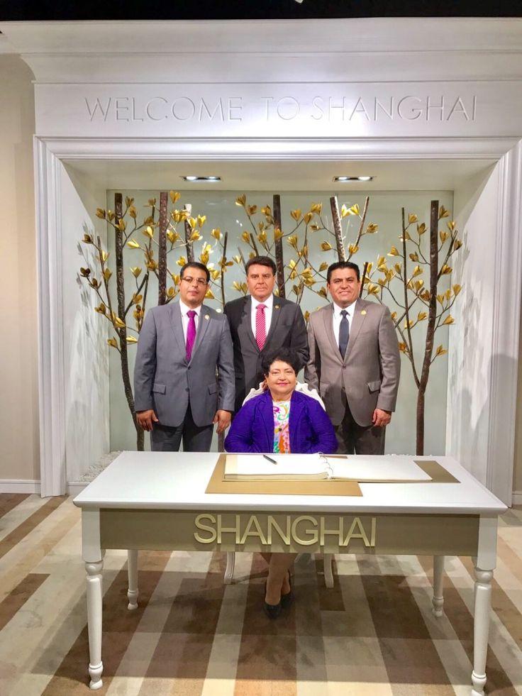 <p>Shangai.- En su visita al País de China, el diputado Federal César Alejandro Domínguez Domínguez en reunión con