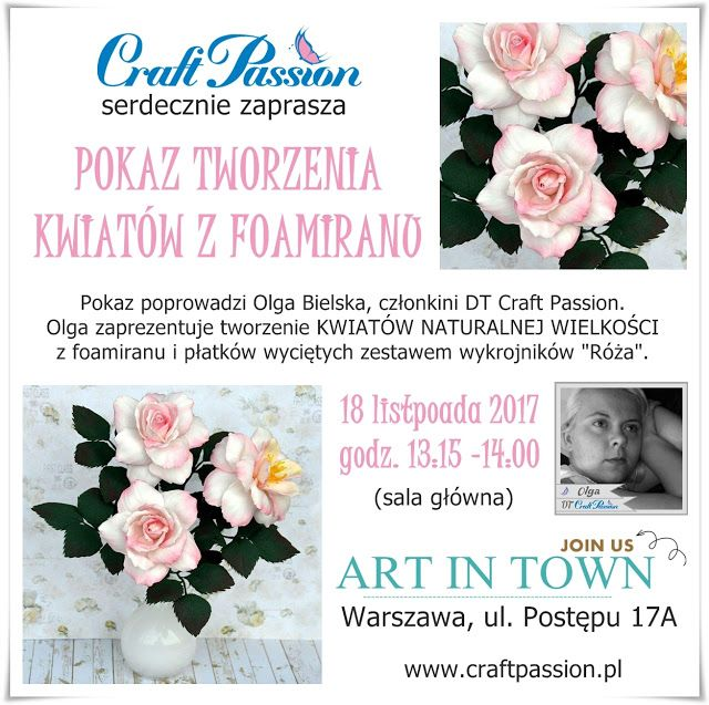 Blog Craft Passion: Art In Town 18.11.2017 - będziemy tam / we'll be there