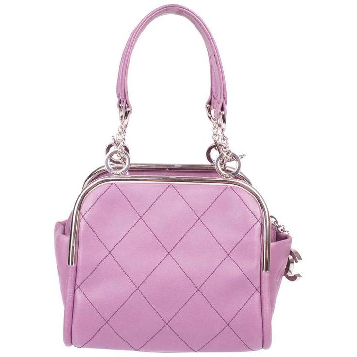 Chanel Mini Handbag Quilted - paars/zilver