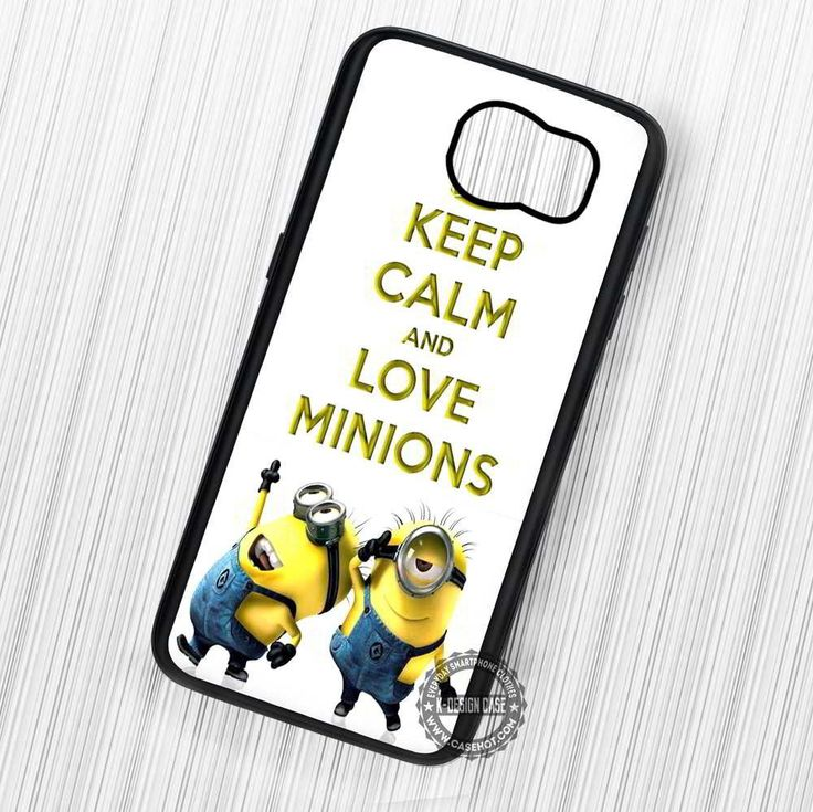 Keep Calm and Love Minions Despicable Me - Samsung Galaxy S7 S6 S5 Note 7 Cases & Covers