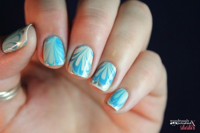 Lovely swirls for nails. Love the colours too