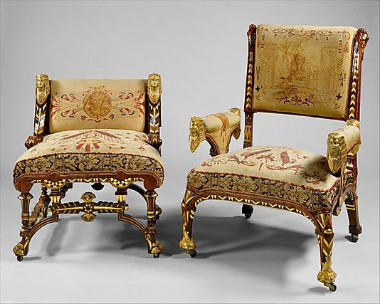 Captivating Armchair Attributed To Pottier And Stymus Manufacturing Company (active Ca.  1859u20131910)