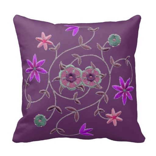 Lilac Floral Throw Pillow : =>quality product Lilac Plum Spring Flower Garden Pillows Lilac Plum Spring Flower Garden ...