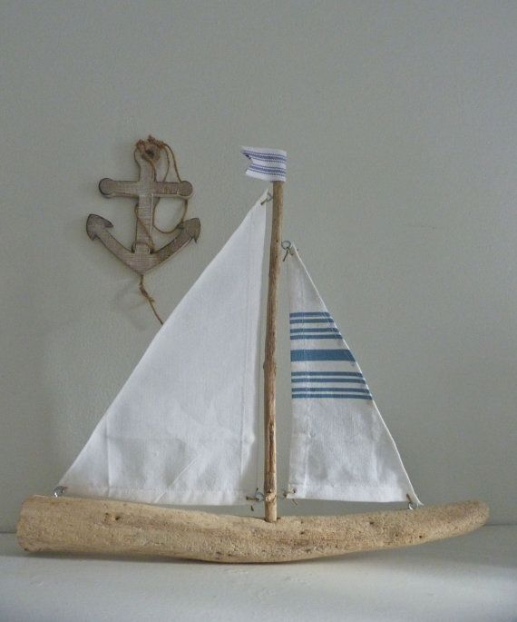 Driftwood sailboat rustic nautical decor driftwood for Nautical projects