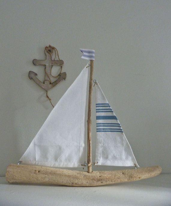 Rustic Nautical Decor Driftwood Sailing Boat Driftwood Decor