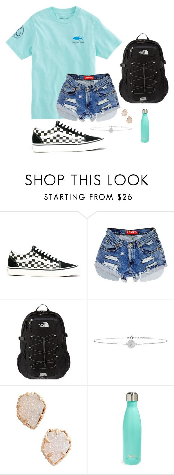 """""""school"""" by nbrooke1009 on Polyvore featuring Vans, Vineyard Vines, The North Face, No 13, Kendra Scott and S'well"""