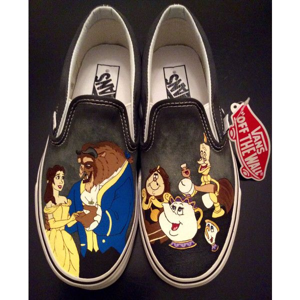 VANS Beauty and the Beast Women's Slip-On Shoes, Birthday Gifts,... ❤ liked on Polyvore featuring shoes, vans footwear, slip on shoes, canvas shoes, canvas footwear y pull on shoes