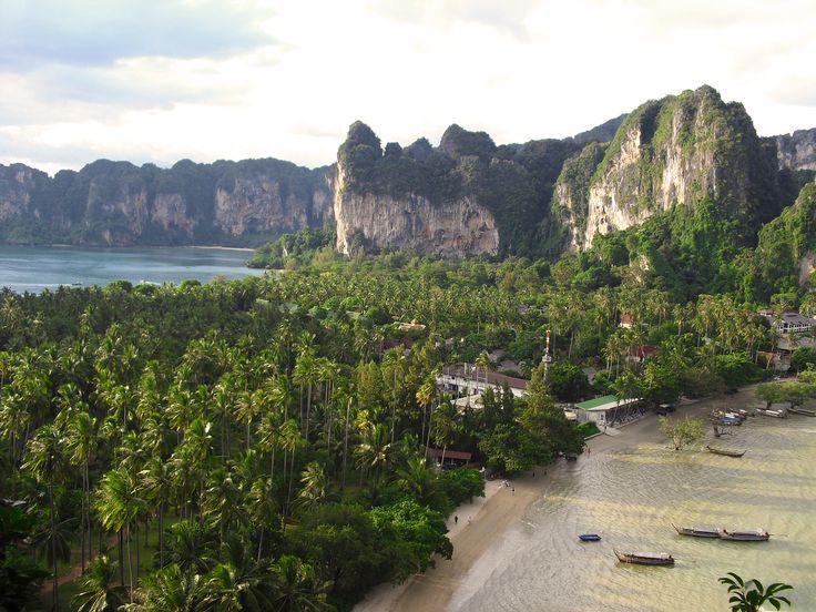 Railay beach front the view point - Krabi, Thailand