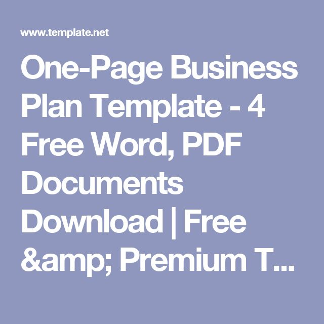 Best Business Plan Template Word Ideas On Pinterest Best Age - Business plan template pdf download