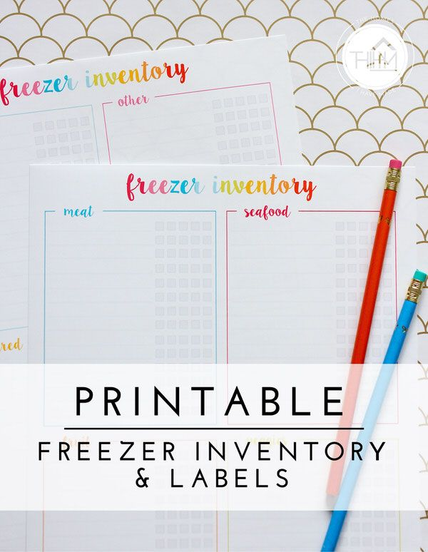 FREE Printable | Freezer Inventory and Labels