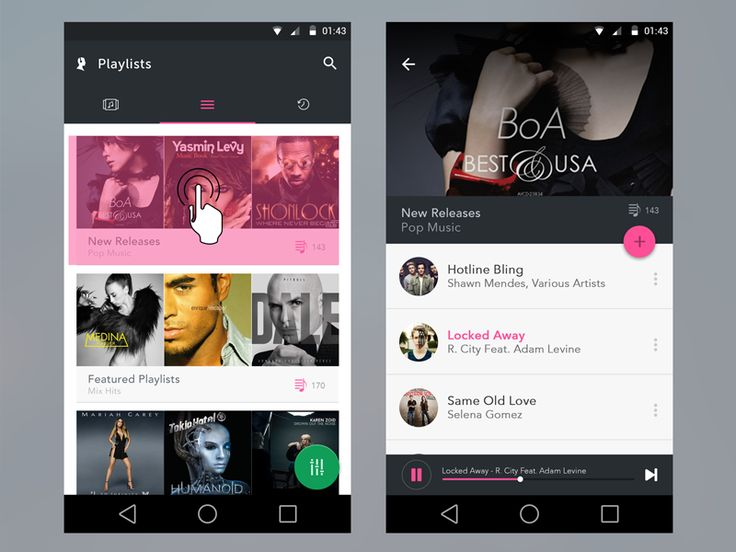 Music Feed Android UI by K