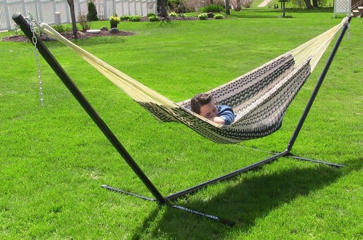 Extra Large Thick Cord Hammock Stand 800 Lb Capacity 2