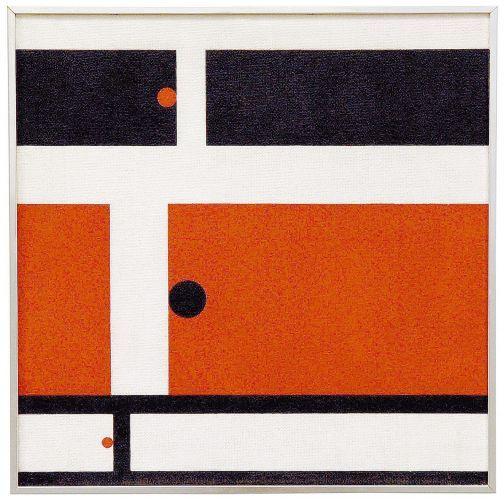 Três Tempos (Quadro 1), de 1956, de Hélio Oiticica