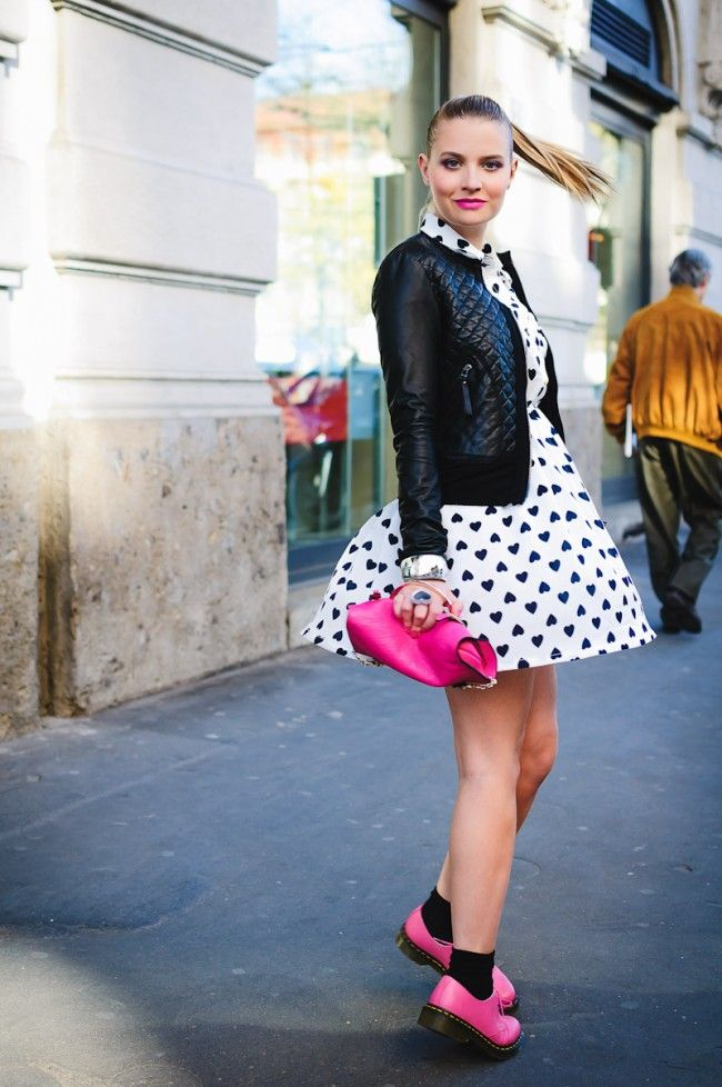 Dress bought in Madrid  Jacket by Pinko  Shoes by Dr. Martens bought on Sarenza  Bag by Coccinelle