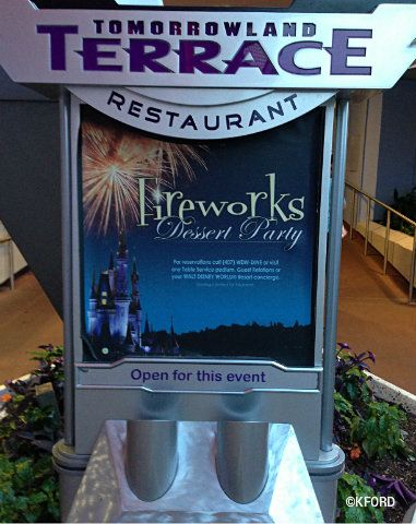 I was able to book the Tomorrowland Terrace Fireworks Dessert Party for our first night at Disney World - really, if I want to do well on the race, I should forego all other desserts until then!