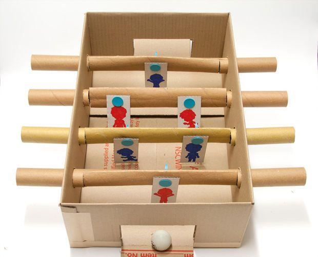 Makedo Cardboard Foosball Table