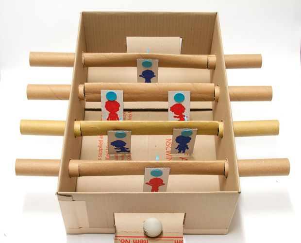 Makedo Cardboard Foosball Table