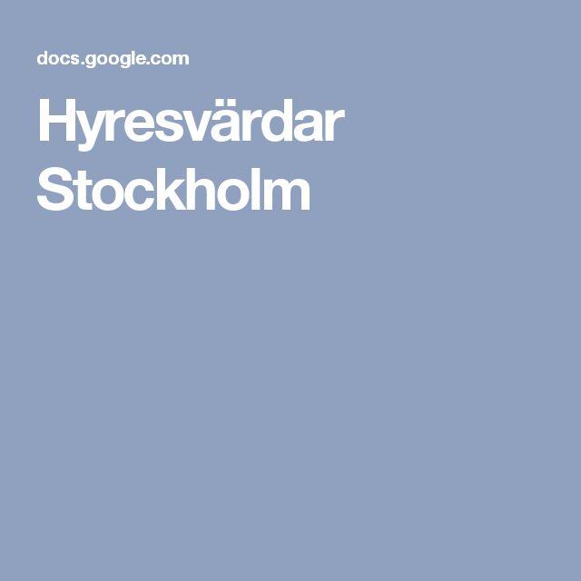 Hyresvärdar Stockholm