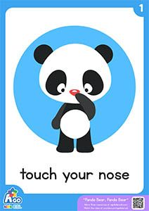 Panda Bear, Panda Bear | Action Verb Bedtime Song - touch your nose