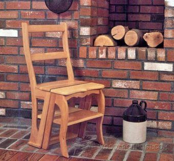Chair Step Stool Plans - Furniture Plans and Projects - Woodwork, Woodworking, Woodworking Plans, Woodworking Projects