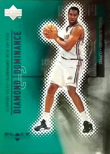 """WHICHAMAJIGGERS - MICHAEL OLOWOKANDI ~ 1998 BLACK DIAMOND ~ """"DIAMOND DOMINANCE"""", $18.29 (http://www.whichamajiggers.com/michael-olowokandi-1998-black-diamond-diamond-dominance/)"""