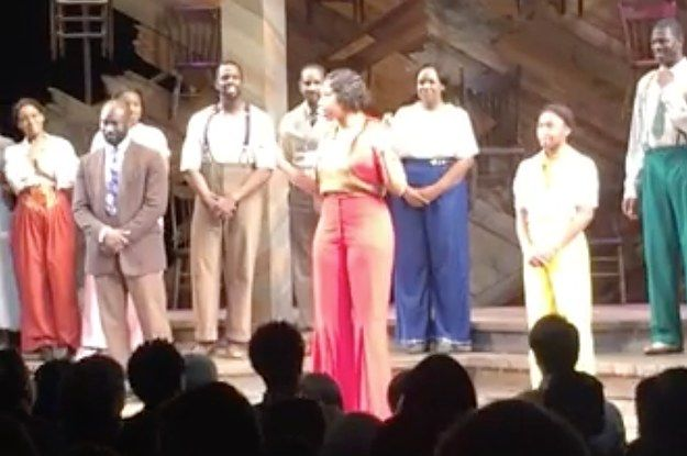 "Hudson's co-star Cynthia Erivo began a powerful and heart-wrenching version of ""Purple Rain."" 