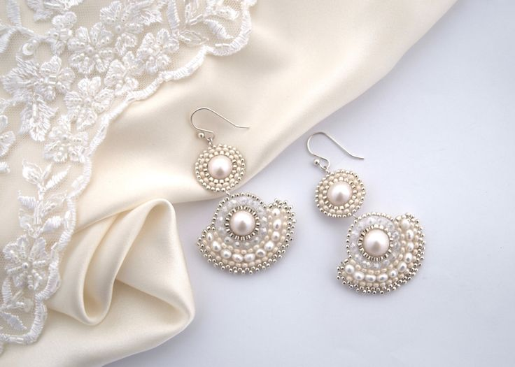 Drop Style Hanging Earrings Exclusive Beaded Jewelry Wedding Fashion White…