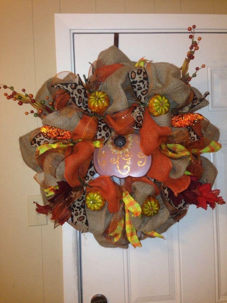 Fall Burlap wreath I made!
